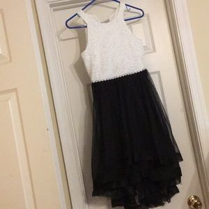 Speechless Kids White/Black Dress - Size 12